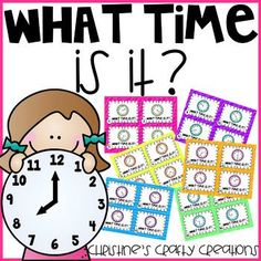 24 time task cards with answer key and student recording sheets included.I also included 4 posters: o'clock, quarter past, half past, and quartet til with times to show as an example (1:00, 2:15, 3:30, and 4:45).These task cards are great for earlier finishers, small group instruction, whole group activities, and more!