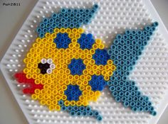 Fish beads; use a cartoon style eye and bolder color pallette