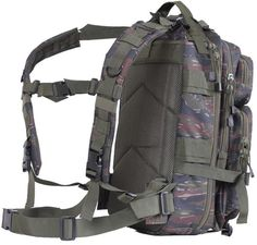 """TIGER STRIPE MEDIUM TRANSPORT PACK  MOLLE Compatible Tactical Pack Coated Lining & Pockets To Repel Water 600D Polyester Material 17"""" x 10"""" x 9"""" One Large"""