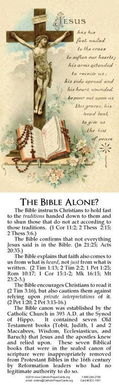 """'nuff said....and it's BIBLICAL. Sola Scriptura is FALSE, knock off the pride of the error of self interpretation, it's already been translated by the Apostles and Early Church Fathers. St Jerome, """"Father"""" of true the Latin Vulgate translation, pray for us!"""