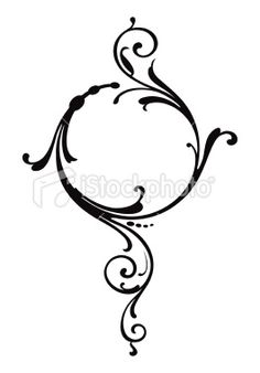 Scroll Pattern Royalty Free Stock Vector Art Illustration