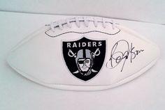 Bo Jackson Autographed Oakland Raiders Logo Football
