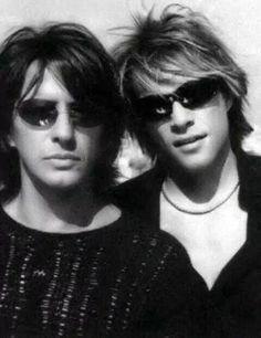 Richie Sambora & Jon Bon Jovi Wearing Shades ❤❤