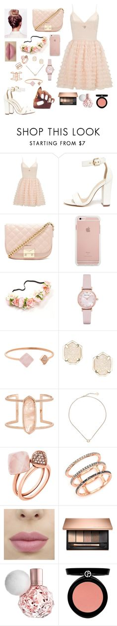 Rose gold by gabriellaallen on Polyvore featuring Lipsy, Liliana, Forever 21, Emporio Armani, Kendra Scott, Michael Kors, EF Collection and Armani Beauty