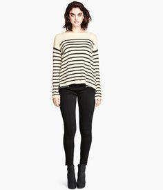 H&M Black Jersey Leggings $25