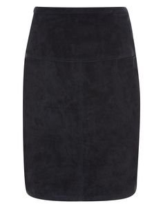 Shop the Trend: 11 Best Suede Skirts to Shop This Fall - Darina Black Suede Skirt, $175; at Monsoon