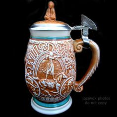 *SOLD* NEW NIB AVON American USA WILD WEST Tribute STEIN BEER MUG Lid Box Buffalo Bill $1 sorry SOLD ... we sell more VINTAGE HOME DECORATIONS at http://www.TropicalFeel.com