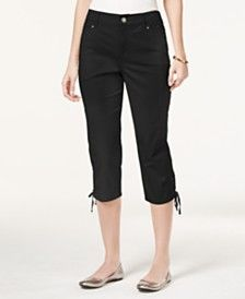 Style & Co. Tummy-Control Lace-Up Capri Pants, Only at Macy's