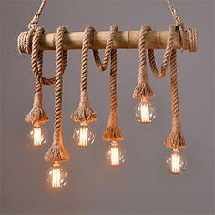 Vintage Hemp Rope Pendant Lights Loft Creative Industrial Lamp For Living Room Restaurant Bars Clothing Store decoration 5220638 2016 – $153.14