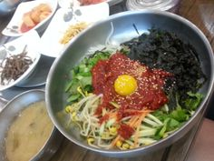 아놔 이거먹고싶다 진심 레알 트루 헠헠 육회비빔밥 존맛꿀맛잉잉