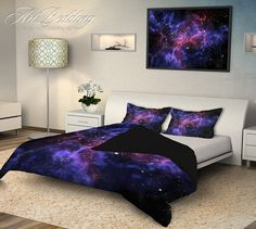 Bedding 4 piece Duvet cover set Queen / Full / Twin by ArtBedding