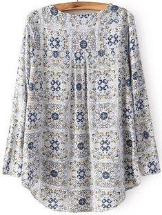 Blouse Patterns, Clothing Patterns, Blouse Designs, African Fashion Dresses, Fashion Outfits, Korean Blouse, Designer Kurtis, Blouse Styles, Printed Blouse