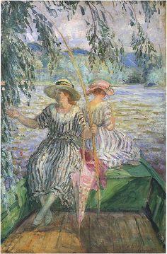 """Henri Lebasque--""""The Fishing Party"""" Art And Illustration, Art Français, Paul Cezanne, Pierre Auguste Renoir, Art Abstrait, Henri Matisse, French Artists, Vincent Van Gogh, Oeuvre D'art"""