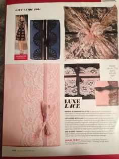 Luxe Lace Gift Wrap, InStyle December 2011