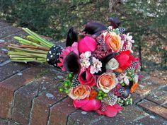 #Polka ~Dot #Wedding bouquet. Steven Bruce Design