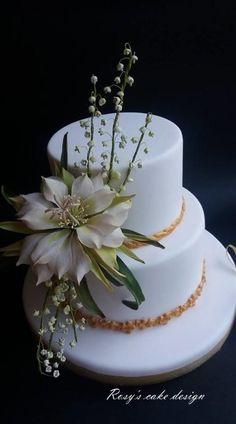 My cactus flower Wedding by rosycakedesigner - http://cakesdecor.com/cakes/262583-my-cactus-flower-wedding