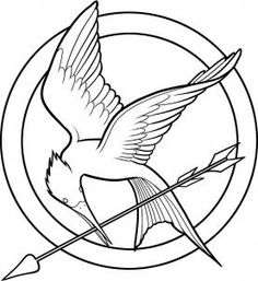 """Como desenhar o simbolo """"tordo"""" presente no filme Jogos Vorazes - How to make The Hungers Games logo"""