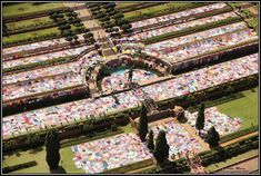 """Guinness World Record for Largest #Crochet Blanket Set By """"67 Blankets for Nelson Mandela"""" Group  #causes #iloveyarn (photo by Peter Morey)"""