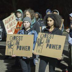 Demonstration demanding justice for Philando Castile