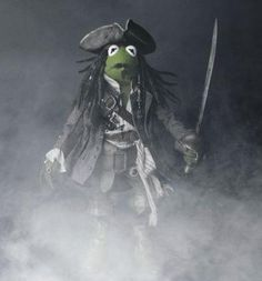 The Dread Pirate Kermit.   Wait.... What?  La Rana Gustavo