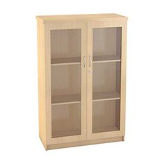 Light coloured glass door bookcase... Boardroom Furniture, Used Office Furniture, New Furniture, Office Cubicle, Office Desk, Office Storage, Locker Storage, Bookcase With Glass Doors, Reception Counter