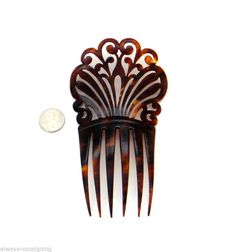 Elegant Antique Victorian Faux Tortoise Shell Hair Comb Part of A Collection | eBay