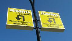 Lichtmastreclame in #GemeenteAmersfoort voor #Jumbo supermarkten. #buitenreclame #lichtmastreclame