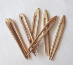 Wooden Hair Fork Rustic Wood Hair Pin Organic Wooden by Vishemir