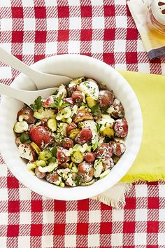 For a barbecue or picnic, nothing's better than a heaping portion of cool homemade potato salad. Here are our favorite potato salad recipes for making the traditional Southern summer side dish. Dill Pickle Potato Salad Recipe, Best Potato Salad Recipe, Best Potato Recipes, Favorite Recipes, Summer Salad Recipes, Easy Salad Recipes, Summer Salads, Side Dish Recipes, Dishes Recipes