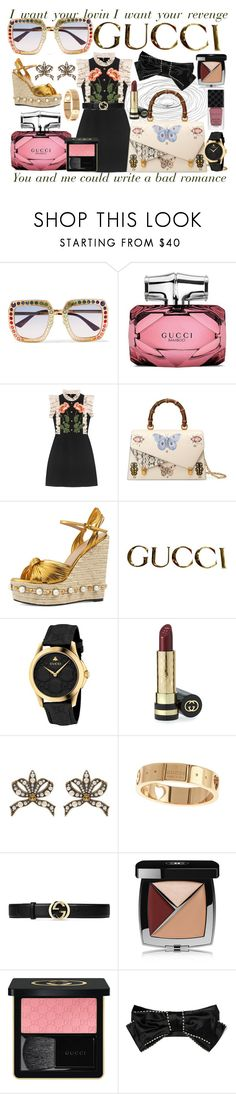 """Gucci"" by couturerouge ❤ liked on Polyvore featuring Gucci and Chanel"