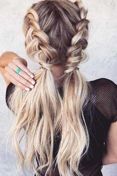 30 cute simple braided hairstyles tutorials for short hair so look for … - diy hairstyles shorthair Pigtail Hairstyles, Braided Hairstyles Tutorials, Diy Hairstyles, Hairstyle Ideas, Easy Hairstyle, Wedding Hairstyles, Holiday Hairstyles, Hairstyles 2018, Barber Hairstyles