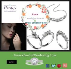 Evara  #bridaljewelleryset and  #weddingnecklaceset form a bond of everlasting love with your near ones.