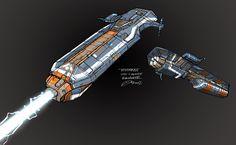 Homeworld 2 Ion Cannon Frigate Concept