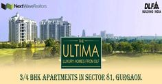 DLF Ultima is one of the finest Residential Project by DLF Limited. Call 9958073331 for Best Price. DLF Ultima is located at Sector Gurgaon. DLF Ultima Gurgaon comes in 3 and 4 BHK Residential Apartments. Apartments, Luxury Homes, Waves, Real Estate, Building, Luxurious Homes, Luxury Houses, Real Estates, Buildings