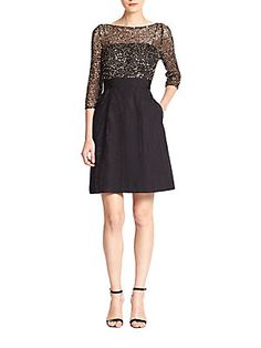 Kay Unger Sequin-Top Cocktail Dress-if I ever need dressy winter dress