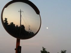 Mirror and the moon.