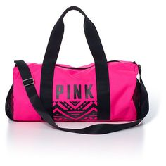 PINK Duffle Bag ($30) ❤ liked on Polyvore featuring bags, luggage, purses, accessories, pink and bolsas