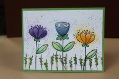 Today was such a beautiful day, that I decided to go out for lunch and then drive around in my car with the top down. As a result, I didn't spend too much time in my Hobbit Hole (as Dennis c… Flower Doodles, Doodle Flowers, Envelope Art, Creative Cards, Flower Cards, Watercolor And Ink, Doodle Art, Card Making, Greeting Cards