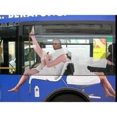 Great nivea ad on bus.  #vehiclewrap #funny #humor