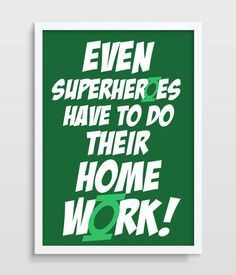 Kids Wall Decor Green Lantern Superhero by TheWatermelonFactory, £6.00