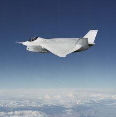 boeing x-32 in flight