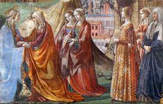 DOMENICO, il GHIRLANDAIO - Visitazione, dettaglio - affresco - 1486-90 - Cappella Tornabuoni - Basilica di Santa Maria Novella, Firenze