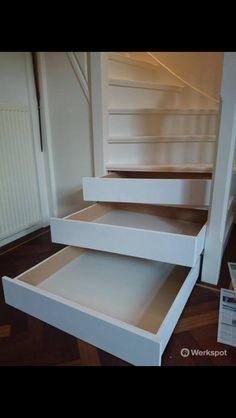 Geniale ruimte oplossing in een trap