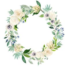 Personalized Bridal Compact Mirror Scrip Names Bridesmaid Gift Wreath Watercolor, Watercolor Art, Wedding Bag, Wedding Gifts, Floral Bouquets, Floral Wreath, Wedding Logos, Friendship Gifts, Flower Frame