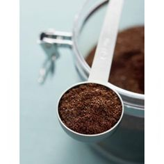 use a bowl of coffee grounds instead of baking soda to remove bad fridge odors or keep a dish handy by sink to rub on hands after chopping onions, garlic, or fish