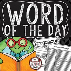 Word of The Day - 3rd Grade, 4th & 5th Vocabulary Activities