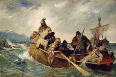 Nordmennene lander på Island år 872 (1877) – Document