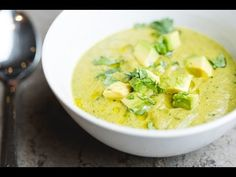 Roasted Poblano Soup - YouTube