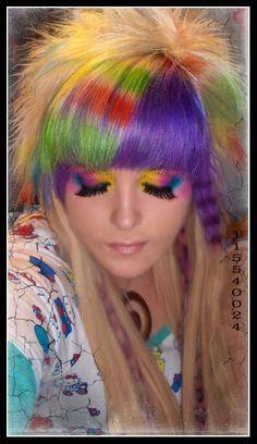 Multi Colored Wig Wigs Pinterest Colored Wigs Wigs