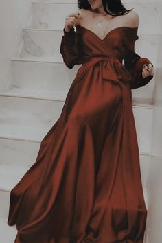 Prom Dresses Long With Sleeves, Black Prom Dresses, A Line Prom Dresses, Elegant Dresses, Pretty Dresses, Beautiful Dresses, Dress Long, Long Sleeve Formal Dress, Dress Prom